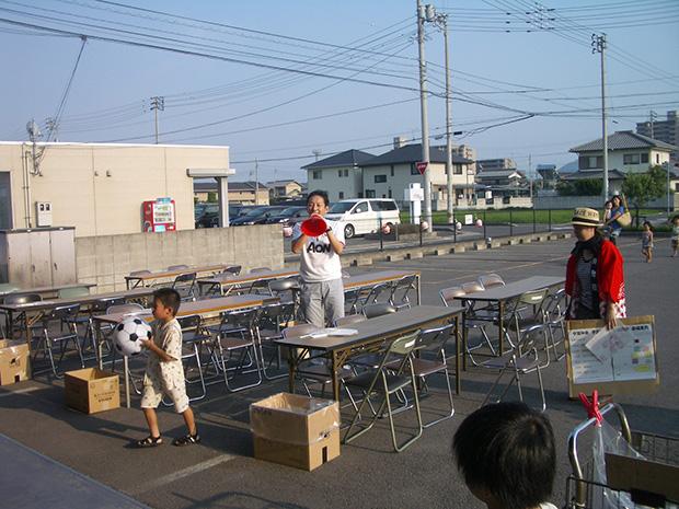 いよいよ「夕涼み会」開始!橋本社長より開会の挨拶です。